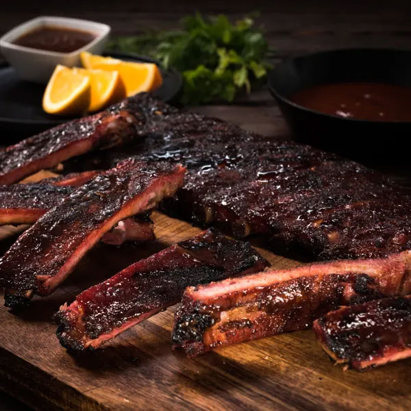 St Louis-Style Ribs with Orange BBQ sauce